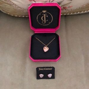 Juicy Couture Necklace and Earring Set
